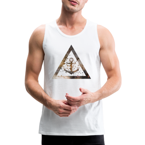 Galaxy Anchor Geometry Triangle - Männer Premium Tank Top