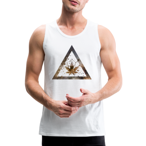 Galaxy Weed Marijuana Triangle with Splashes - Männer Premium Tank Top
