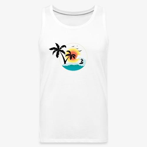 Surfing in paradise - Männer Premium Tank Top
