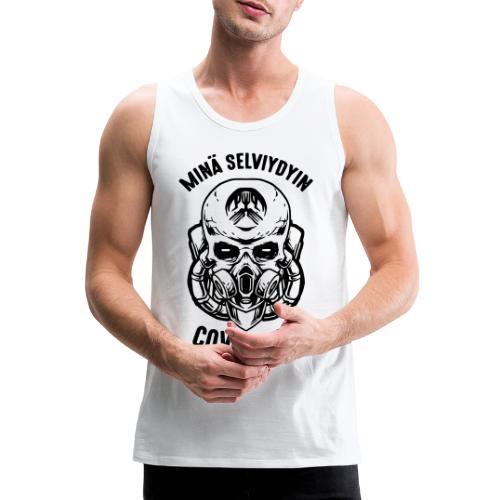 COVID-19, minä selviydyin - Miesten premium hihaton paita