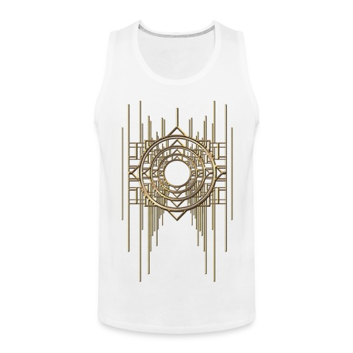 Abstract & Geometric - Gold Metal - Men's Premium Tank Top