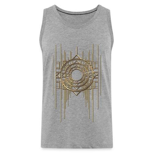 Abstract & Geometric - Gold Metal - Men's Premium Tank Top
