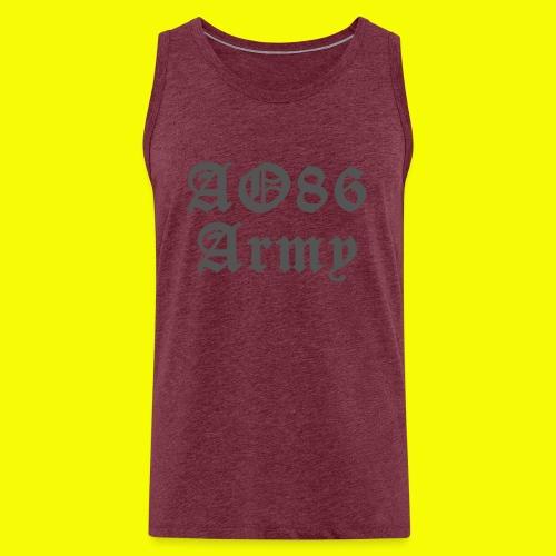 T Shirt Army grau png - Männer Premium Tank Top