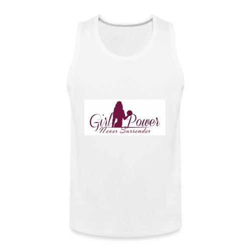GIRL POWER NEVER SURRENDER - Tank top premium hombre