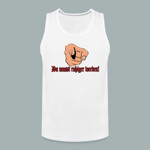 hand pointing 5 26860117 png - Männer Premium Tank Top