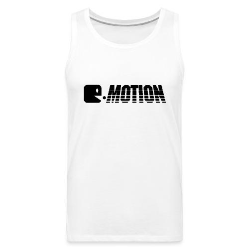 E MOTION LOGO T Shirt SCHWA gif - Männer Premium Tank Top