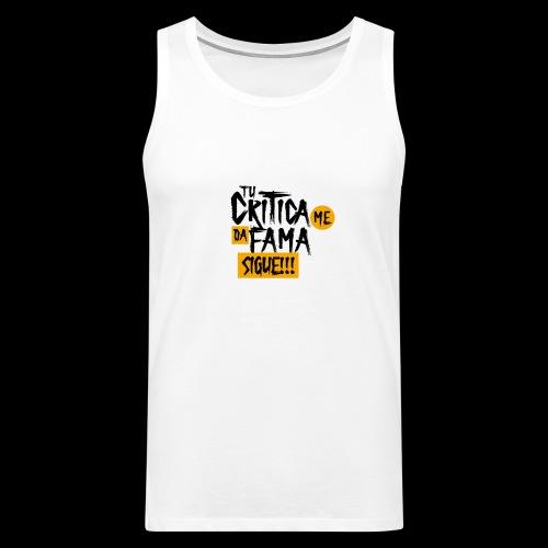 CRITICA - Tank top premium hombre