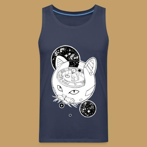 Kosmiczny Kot Imperator - Tank top męski Premium