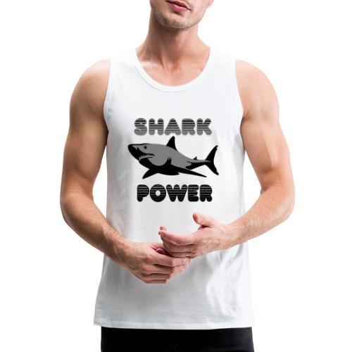 Shark Power Schwarz - Männer Premium Tank Top