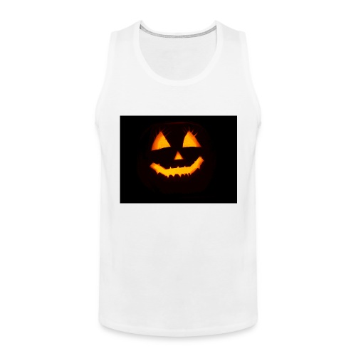 Halloween Kürbis Gesicht - Männer Premium Tank Top