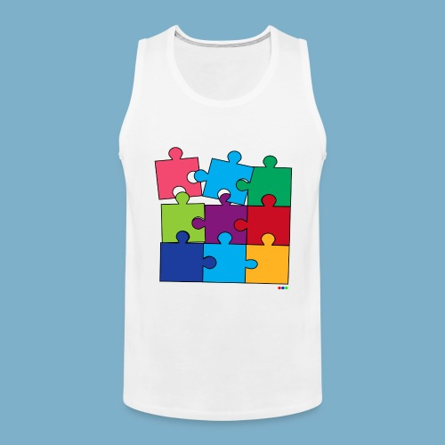 Puzzle Fun Motive - Männer Premium Tank Top