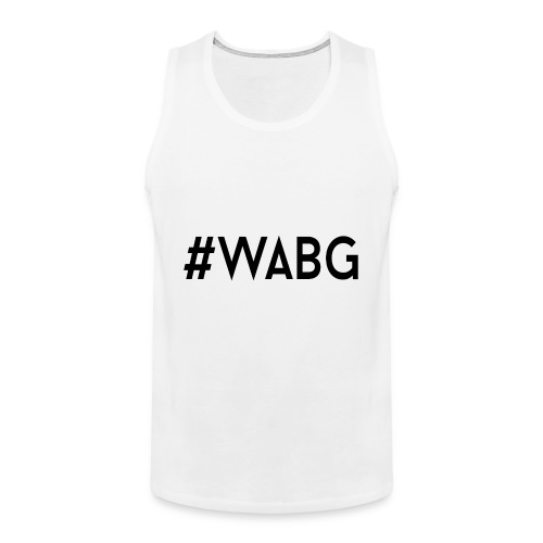 WABG ZWART png - Mannen Premium tank top