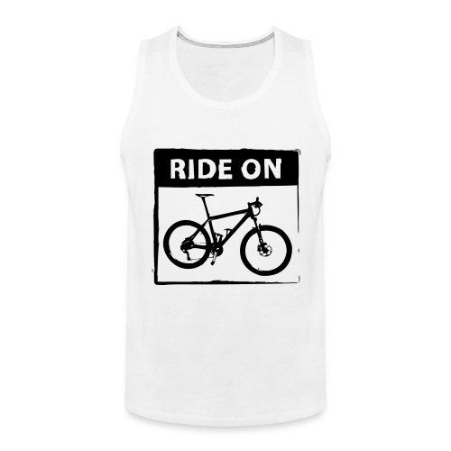 Ride On MTB 1 Color - Männer Premium Tank Top