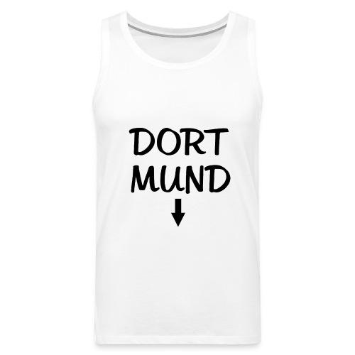 Dortmund Witzig Weiß - Männer Premium Tank Top
