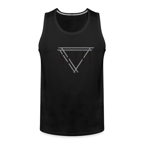 SEELE_BG_logo - Miesten premium hihaton paita