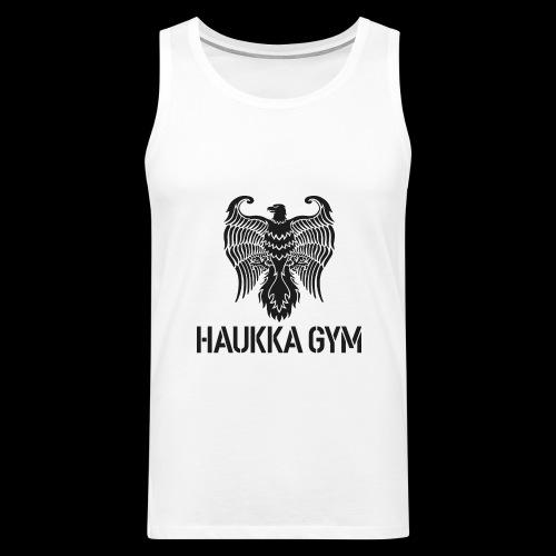HAUKKA GYM LOGO - Miesten premium hihaton paita