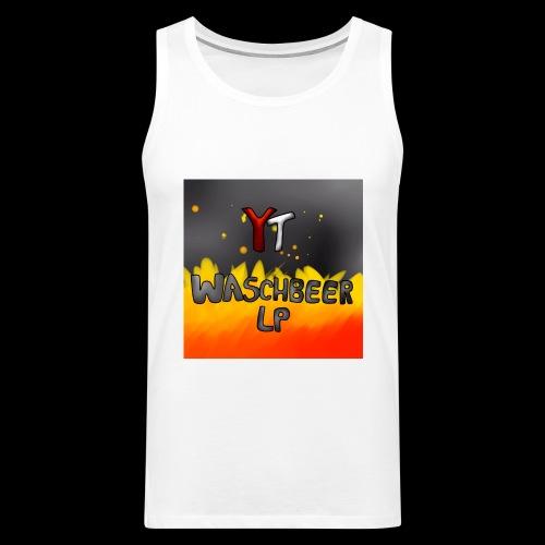 Waschbeer Design 2# Mit Flammen - Männer Premium Tank Top