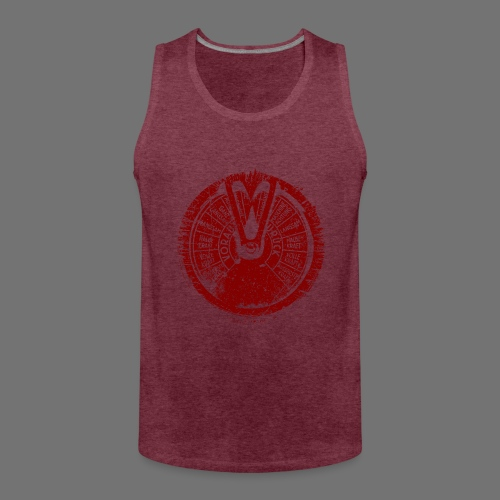 Maschinentelegraph (punainen oldstyle) - Miesten premium hihaton paita
