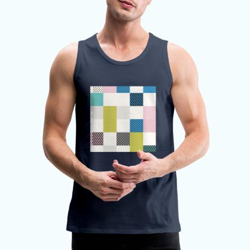Abstract art squares - Men's Premium Tank Top
