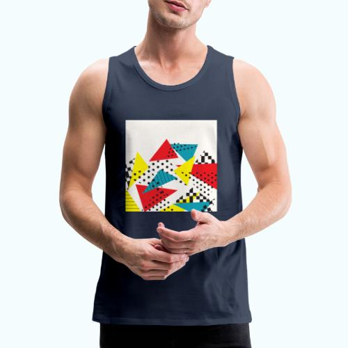 Abstract vintage collage - Men's Premium Tank Top