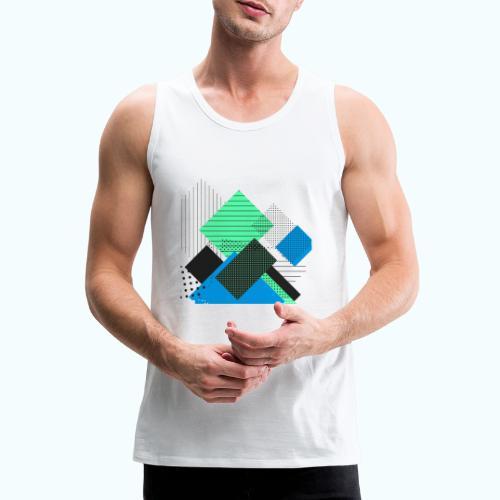 Abstract rectangles pastel - Men's Premium Tank Top