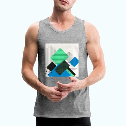 Abstract rectangles pastel - Men's Premium Tank Top
