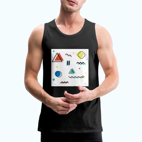 Abstract geometry - Men's Premium Tank Top