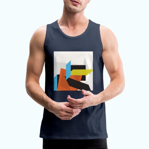 Vintage shapes abstract - Men's Premium Tank Top