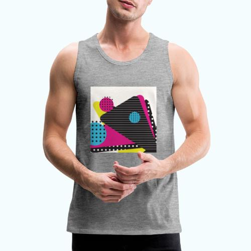 Abstract vintage shapes pink - Men's Premium Tank Top