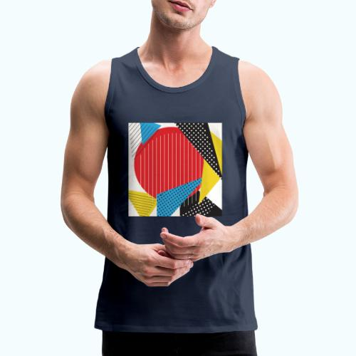 Geometry collage Abstract colors - Men's Premium Tank Top
