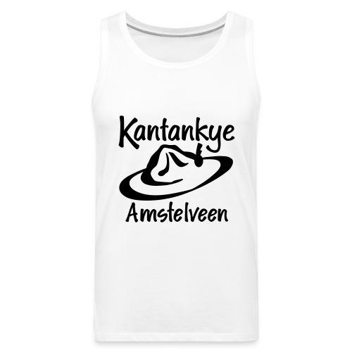 logo naam hoed amstelveen - Mannen Premium tank top