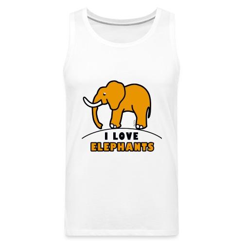 Elefant - I LOVE ELEPHANTS - Männer Premium Tank Top