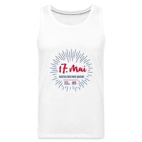17. mai T-skjorte - Det norske plagg - Premium singlet for menn