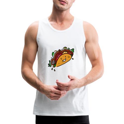 Glücklicher Taco - Männer Premium Tank Top