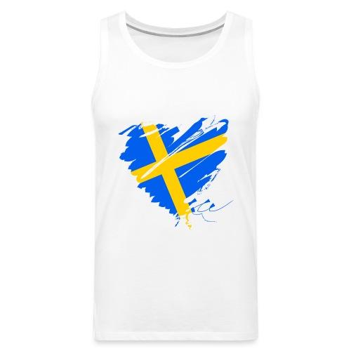 Schweden Skandinavien Europa Fahne Flagge Herz - Männer Premium Tank Top