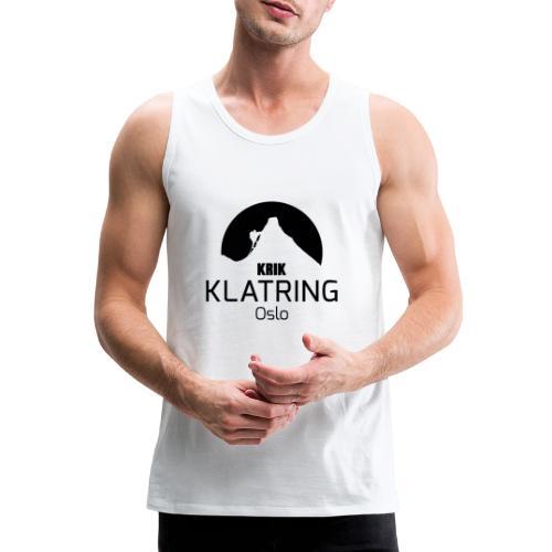 KRIK Klatring Oslo Logo Sort - Premium singlet for menn