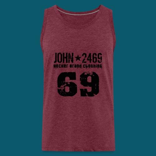 john 2469 numero trasp per spread nero PNG - Canotta premium da uomo