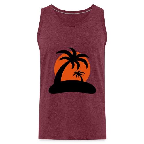 palm island sun - Mannen Premium tank top