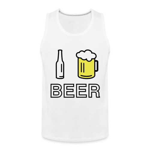 I Love Beer (2-farbig) - Männer Premium Tank Top