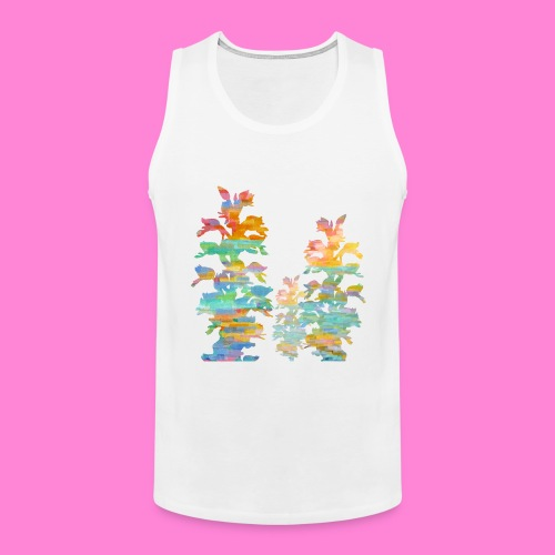 Orchid painting - Mannen Premium tank top