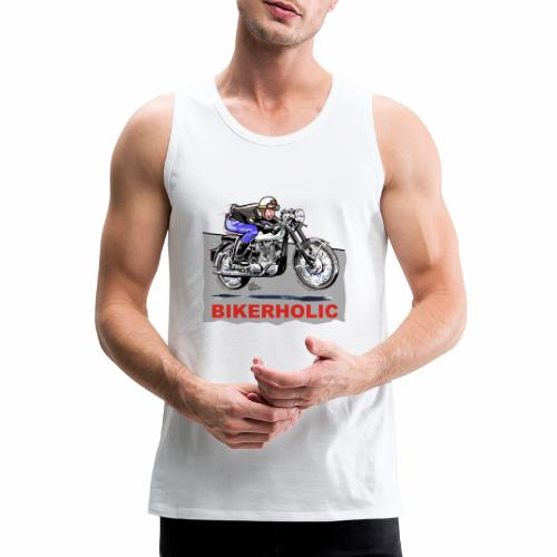 bikerholic - Men's Premium Tank Top