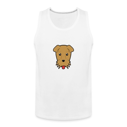 Shari the Airedale Terrier - Men's Premium Tank Top