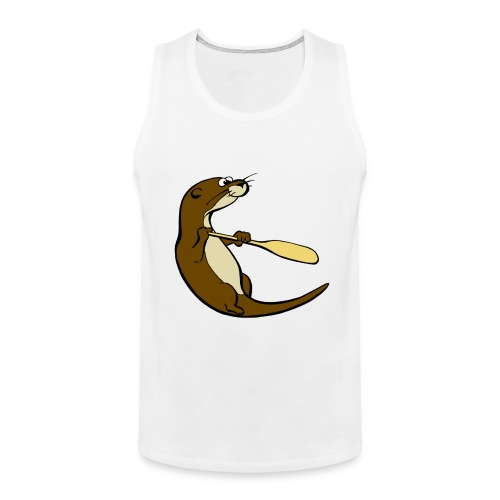 Classic Song of the Paddle otter logo - Men's Premium Tank Top
