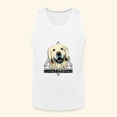 RETRIEVER LOVE FOREVER - Tank top premium hombre