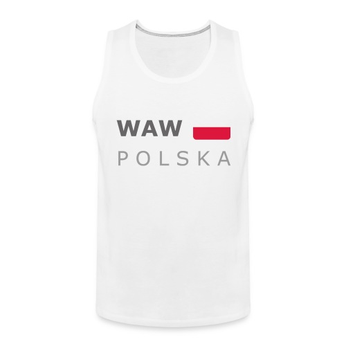 WAW POLSKA dark-lettered 400 dpi - Men's Premium Tank Top