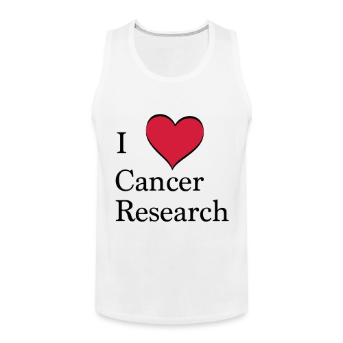I love cancer research - Männer Premium Tank Top