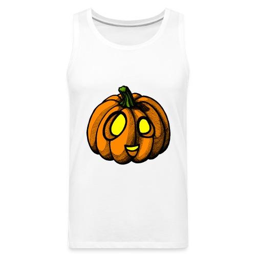 Pumpkin Halloween scribblesirii - Men's Premium Tank Top
