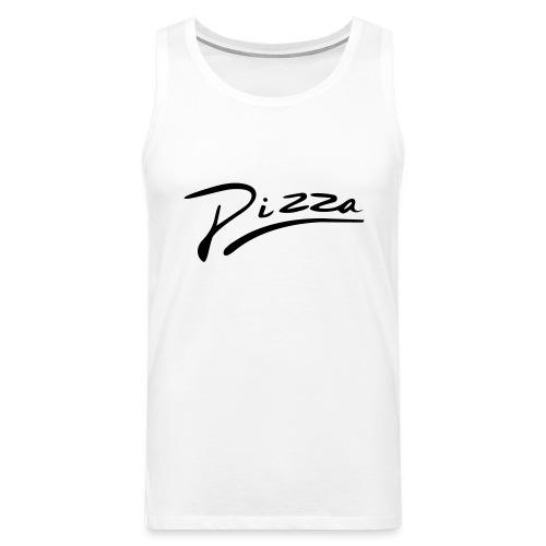 Pizza Schriftzug - Männer Premium Tank Top
