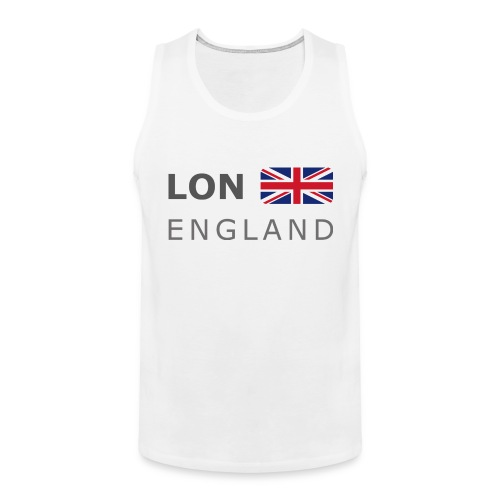 LON ENGLAND BF dark-lettered 400 dpi - Men's Premium Tank Top