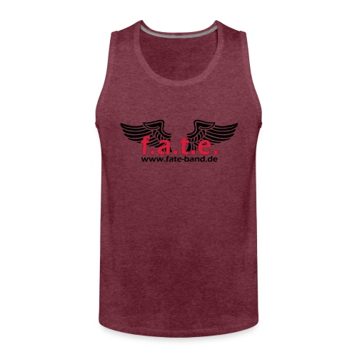 fate logo spreadshirt 2 - Männer Premium Tank Top